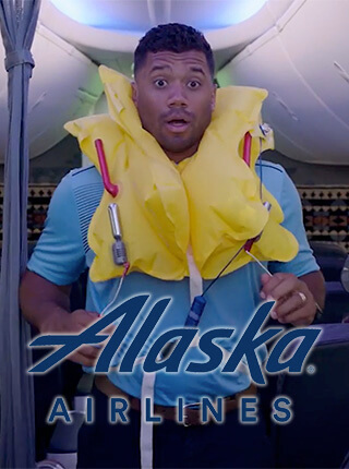Cinematographer / DP / MoVI Operator: Sam Nuttmann - Seattle - commercial - Alaska Airlines - Russell Wilson - poster