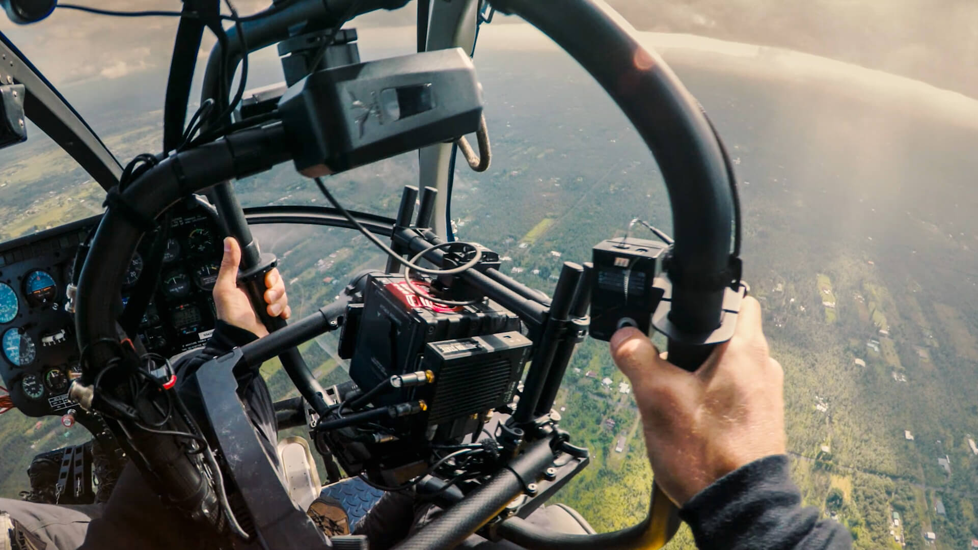 Cinematographer / DP Sam Nuttmann - Hawaii - Ordinary People - using the Redrock Navigator for a helicopter shot