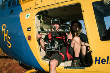 MoVI Operator Sam Nuttmann - Australia - BBC - television, tv - Wonders Of The Monsoon - helicopter shots