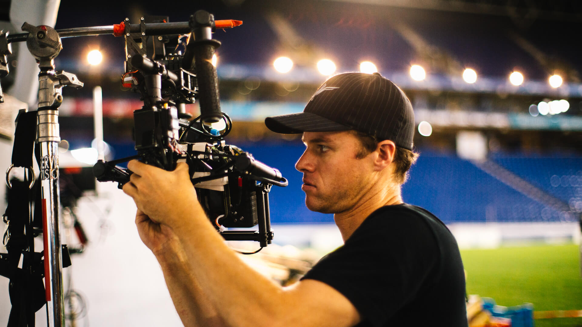 MoVI Operator Sam Nuttmann - Barcelona, Spain - DirecTV - early MoVI M10 prototype
