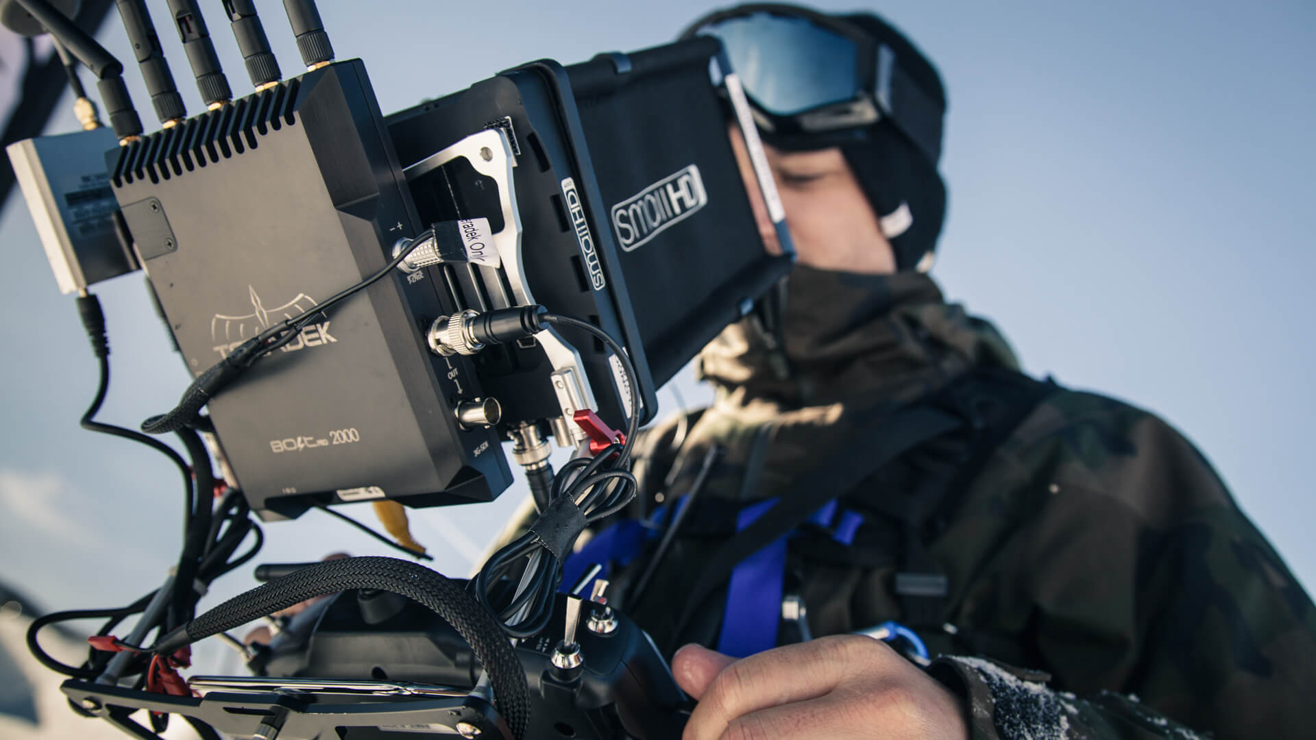 MoVI Operator Sam Nuttmann - Colorado - Red Bull Moments - dual operator using the Teradek Bolt