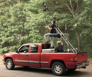 MoVI Operator Sam Nuttmann - Los Angeles - Klassen Slingshot - film, movie - high angle shot from truck